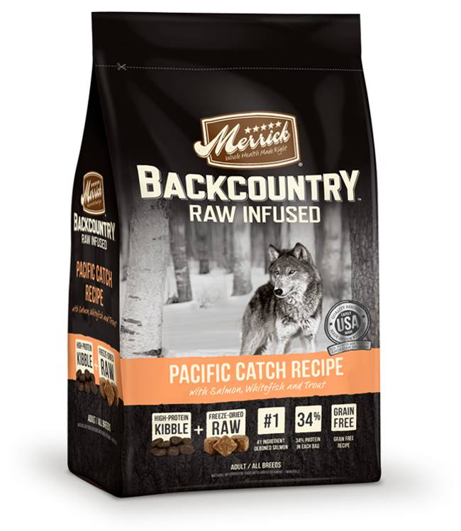 Merrick Backcountry - Raw Infused - Pacific Catch Recipe for Dogs