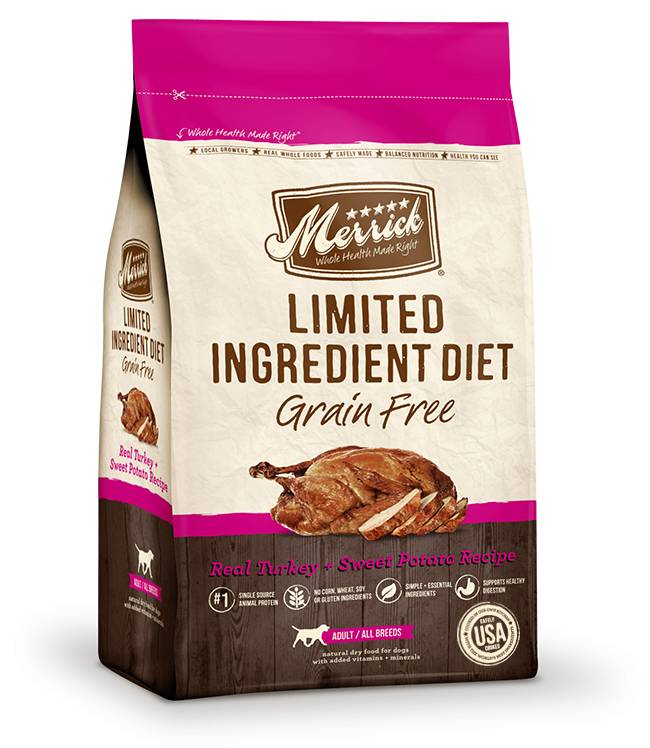 Merrick Limited Ingredient Diet - Real Turkey + Sweet Potato Recipe for Dogs