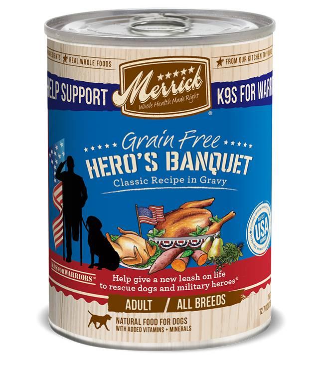 Merrick Grain Free Hero's Banquet Recipe in Gravy for Dogs