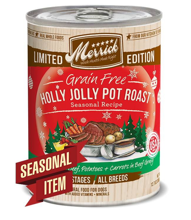 Merrick Grain Free Holly Jolly Pot Roast Seasonal Recipe for Dogs
