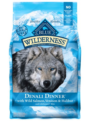 Blue - Wilderness BLUE Wilderness® Denali Dinner™ with Wild Salmon, Venison & Halibut For Dogs