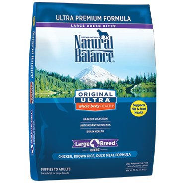 Natural Balance Original Ultra® Whole Body Health® Chicken, Brown Rice, Duck Meal Large Breed Bites® Dry Dog Formula