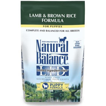 Natural Balance L.I.D. Limited Ingredient Diets® Lamb & Brown Rice Dry Puppy Formula