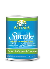 Wellness - Simple Wellness Simple Lamb and Oatmeal Canned Recipe for Dogs