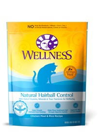 Wellness - Complete Health Wellness Natural Hairball Control Chicken Meal and Rice Formula for Cats