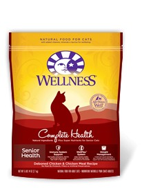 Wellness - Complete Health Wellness Complete Health Senior Health Deboned Chicken and Chicken Meal Recipe for Cats