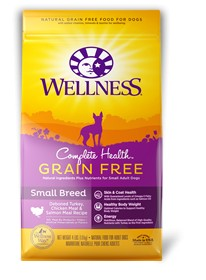 Wellness - Complete Health Wellness Complete Health Grain Free Small Breed Deboned Turkey, Chicken Meal & Salmon Meal Recipe for Dogs