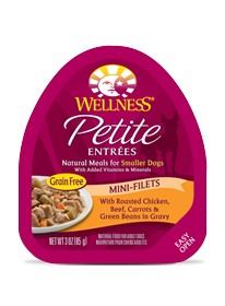 Wellness - Complete Health Wellness Petite Entrees Mini-Filets with Roasted Chicken, Beef, Carrots & Green Beans in Gravy for Dogs