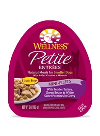 Wellness - Complete Health Wellness Petite Entrees Mini-Filets with Tender Turkey, Green Beans & White Sweet Potatoes in Gravy for Dogs