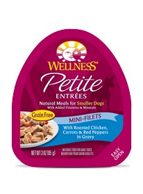 Wellness - Complete Health Wellness Petite Entrees Mini-Filets with Roasted Chicken, Carrots & Red Peppers in Gravy for Dogs