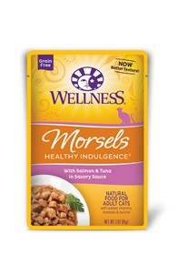 Wellness - Complete Health Wellness Healthy Indulgence Morsels with Salmon & Tuna in Savory Sauce for Cats