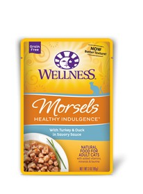 Wellness - Complete Health Wellness Healthy Indulgence Morsels with Turkey & Duck in Savory Sauce for Cats