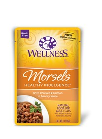Wellness - Complete Health Wellness Healthy Indulgence Morsels with Chicken & Salmon in Savory Sauce for Cats
