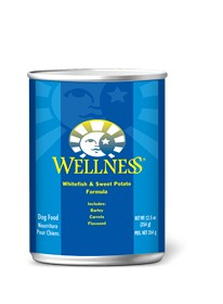 Wellness - Complete Health Wellness Complete Health Whitefish & Sweet Potato Canned Recipe for Dogs