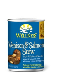 Wellness - Complete Health Wellness Stews Venison & Salmon with Potatoes & Carrots for Dogs