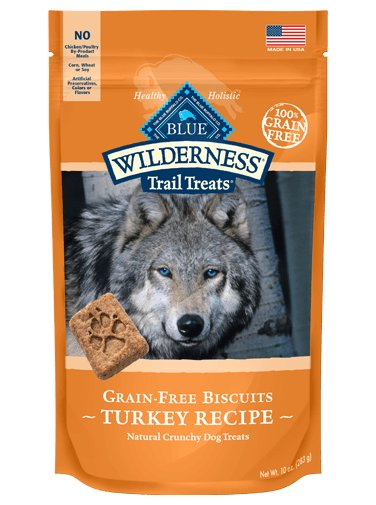 Blue - LPF BLUE Wilderness Trail Treats® Turkey Biscuits Natural Crunchy Dog Biscuits