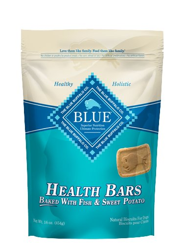 Blue - LPF BLUE™ Health Bars Baked with Fish and Sweet Potato Natural Biscuits for Dogs