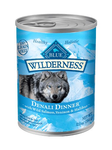Blue - Wilderness BLUE Wilderness® Denali Dinner™ Wild Salmon, Venison & Halibut Dinner Grain-Free Wet Dog Food