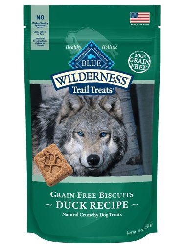 Blue - Wilderness BLUE Wilderness Trail Treats® Duck Biscuits Grain-Free Natural Crunchy Dog Biscuits