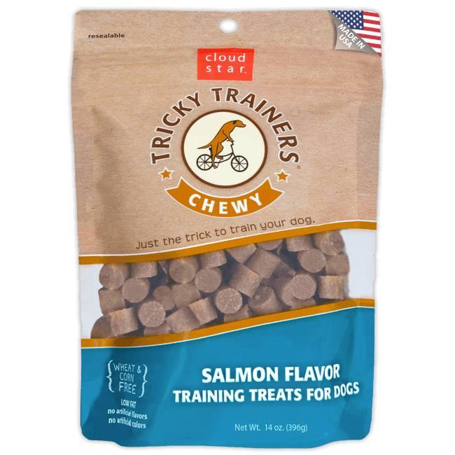 Chewy Tricky Trainers Dog Treats: Salmon