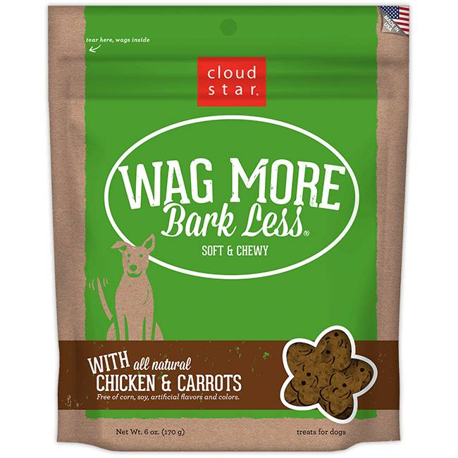 Wag More Bark Less Soft & Chewy Dog Treats: Chicken & Carrots