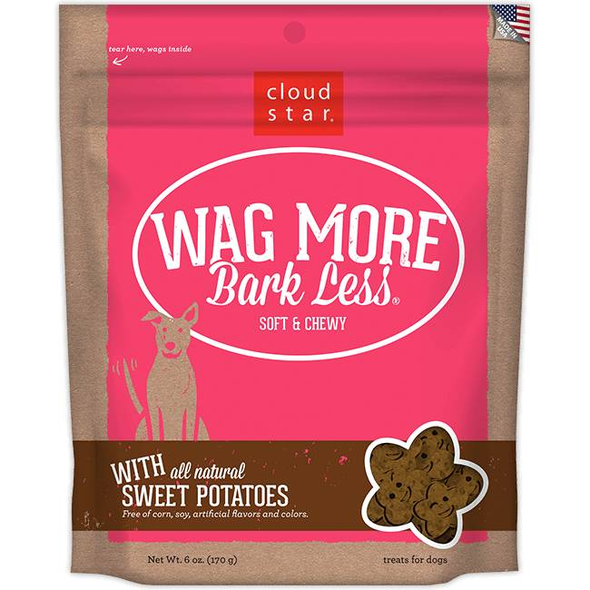 Wag More Bark Less Soft & Chewy Dog Treats: Sweet Potatoes