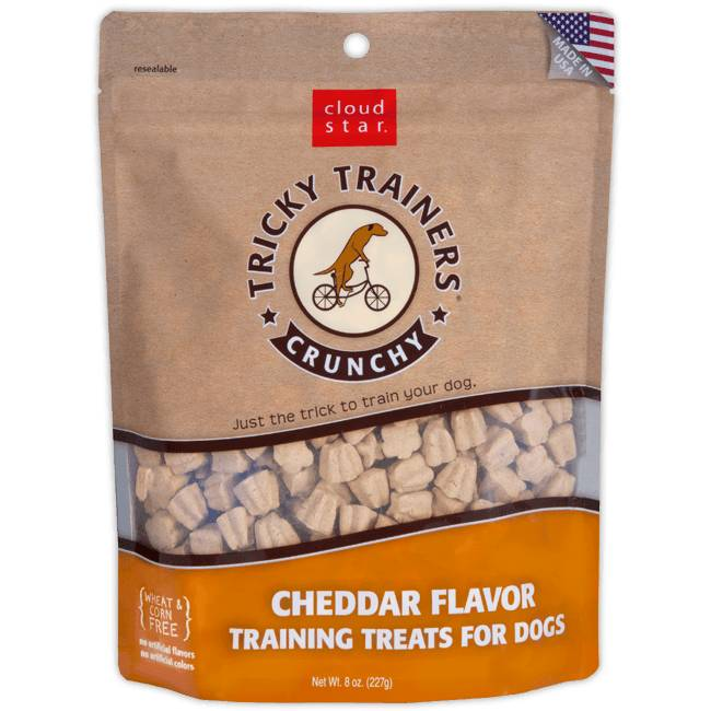 Crunchy Tricky Trainers Dog Treats: Cheddar