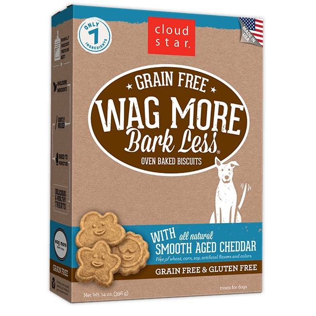 Wag More Bark Less Oven-Baked Grain Free: Smooth Aged Cheddar for Dogs