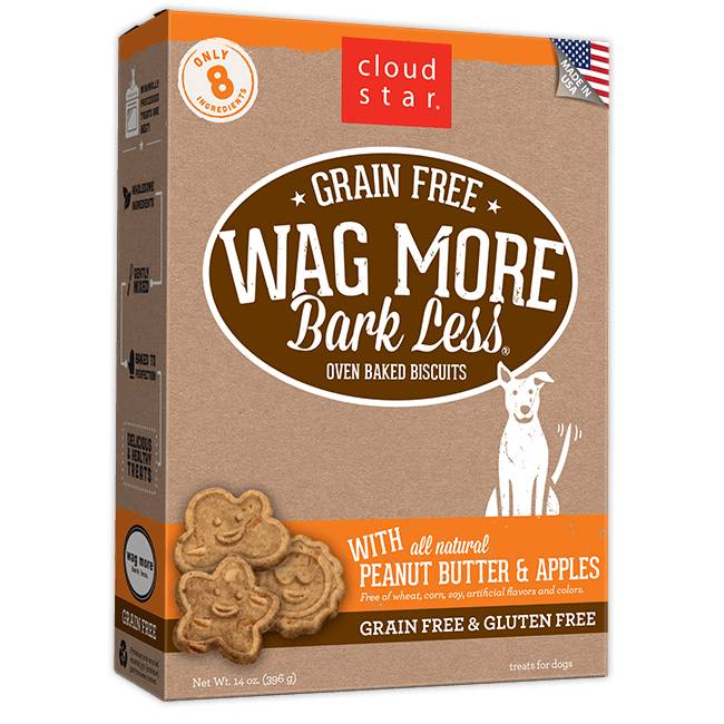 Wag More Bark Less Oven-Baked Grain Free: Peanut Butter & Apples for Dogs