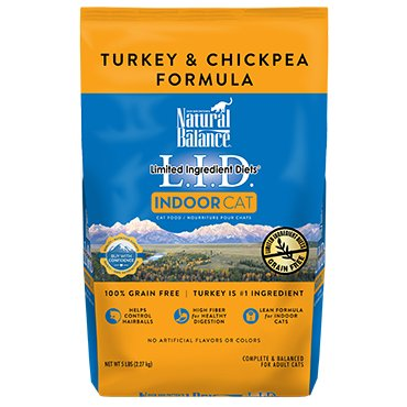 Natural Balance Natural Balance Dry Cat Food Indoor LID Turkey & Chickpea