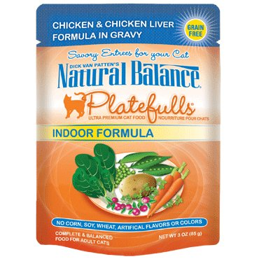 Natural Balance Natural Balance Platefulls Indoor Chicken & Chicken Liver Cat Food