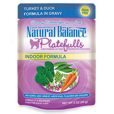 Natural Balance Natural Balance Platefulls Indoor Turkey & Duck Cat Food