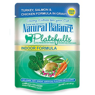 Natural Balance Natural Balance Platefulls Indoor Turkey Salmon & Chicken Cat Food