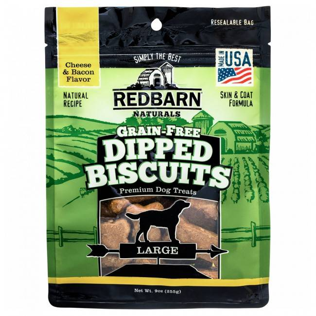 Red Barn Red Barn Grain Free Dipped Biscuits Cheese/Bacon