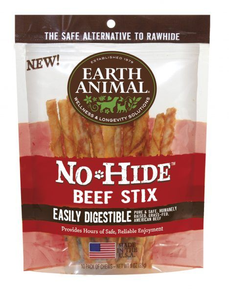 Earth Animal Earth Animal No Hide Stix Beef - 10 pk