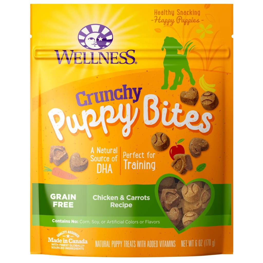 Wellness - Complete Health Wellness Puppy Bites Crunchy Snacks Chicken/Carrot