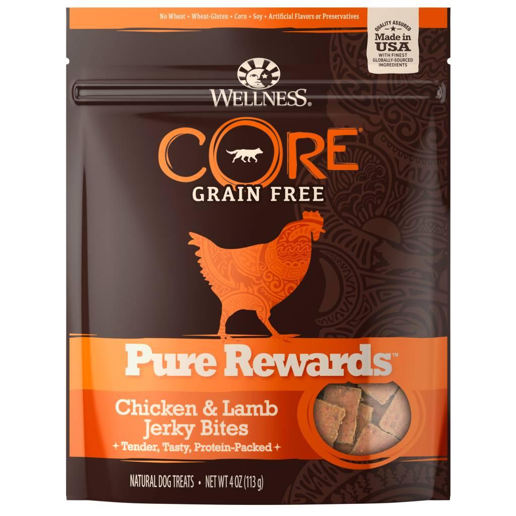 Wellness - Core Wellness Core Pure Rewards Chicken/Lamb Jerky 4oz.