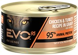 EVO Evo Can Cat 95% Meat Chicken/Turkey