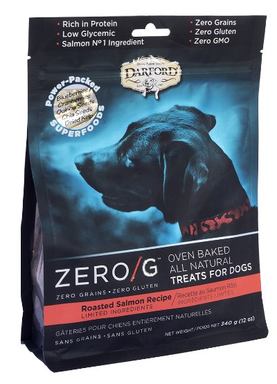 Darford Darford Zero-G Dog Treats Roasted Salmon 12 oz