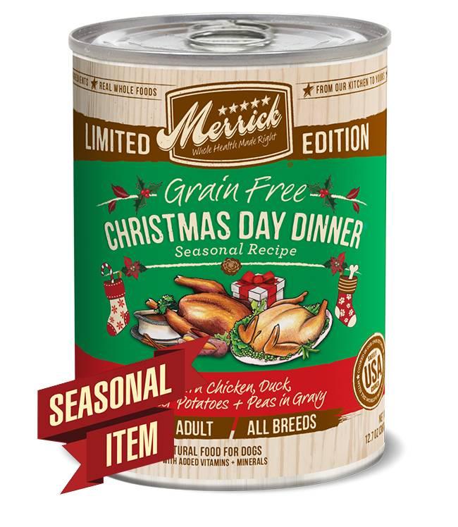 Merrick Merrick Can Dog Holiday Seasonals Christmas Day Dinner
