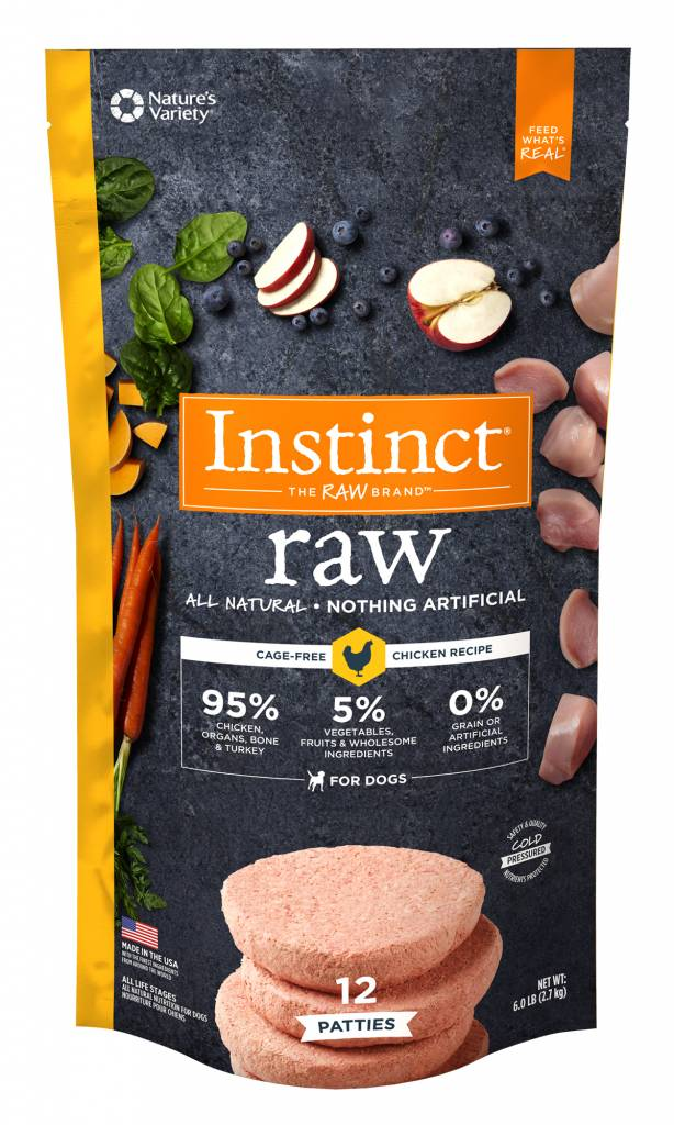 Natures Variety Natures Variety Frozen Raw Dog Food Patties Chicken 6#