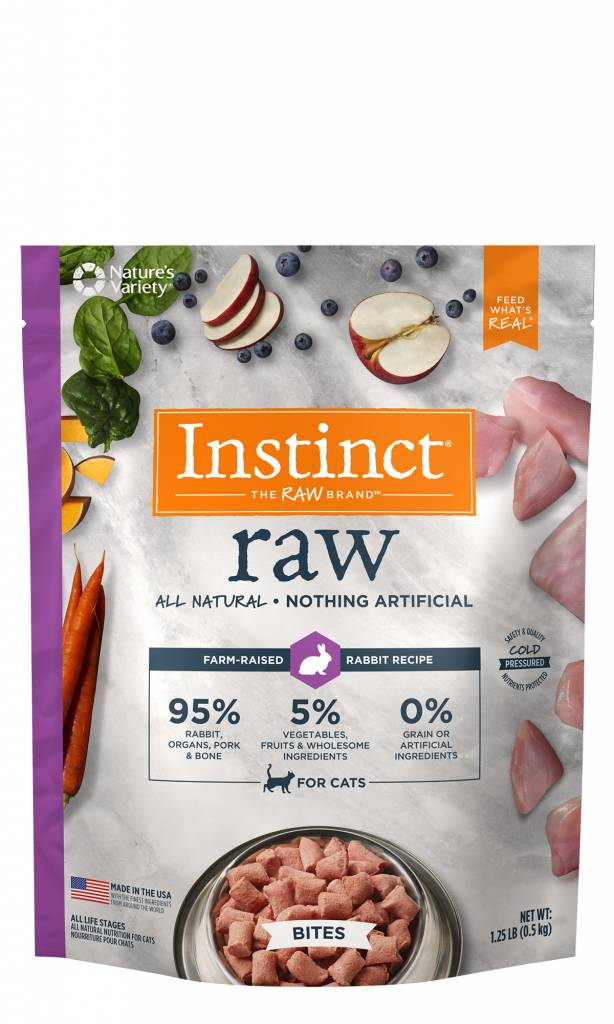 Natures Variety Natures Variety Frozen Raw Cat Food Bites Rabbit 1.25#