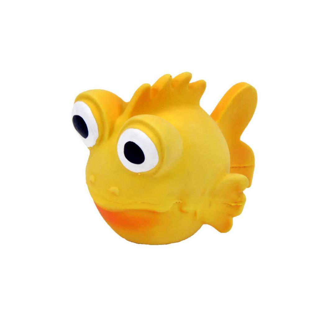 Rascals Rascals 3.5'' Latex Goldfish Dog Toy