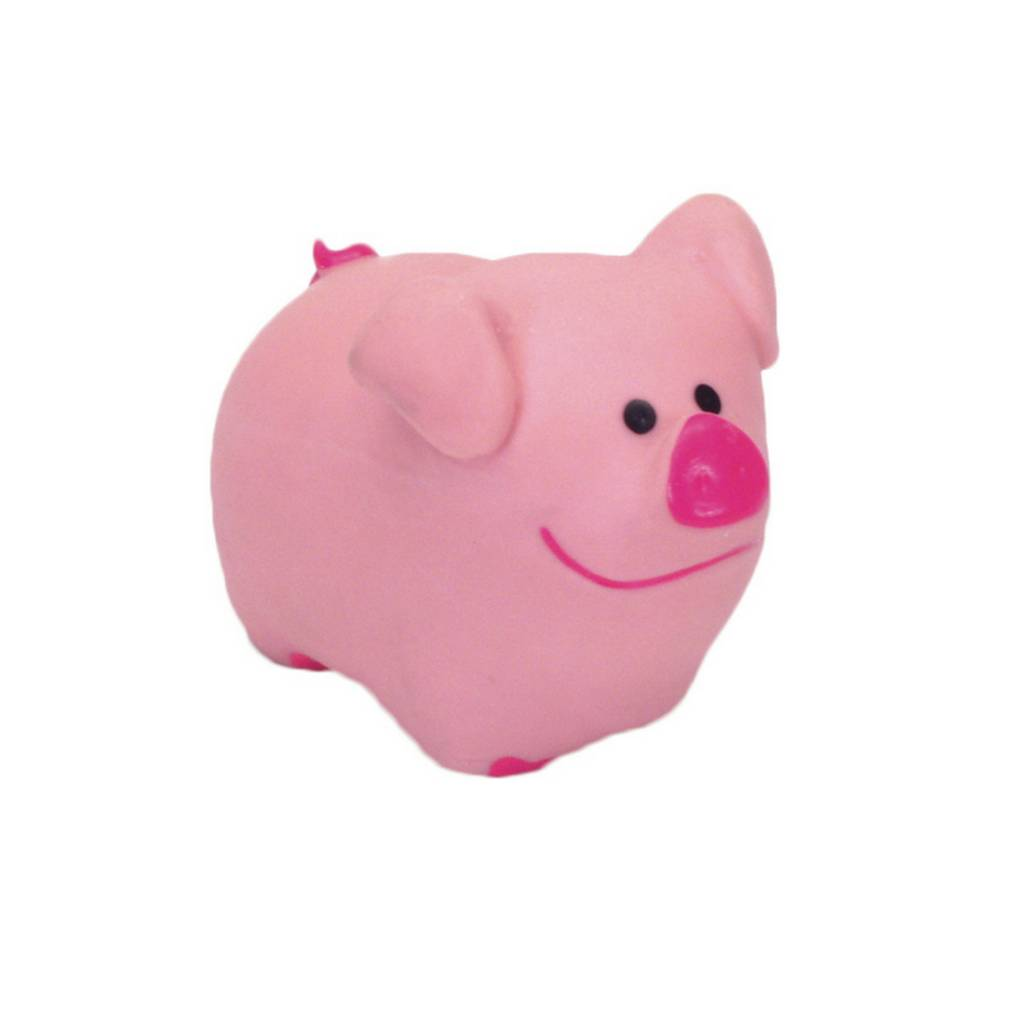 Rascals Rascals 2.75'' Latex Pig Dog Toy