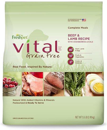 Freshpet Freshpet Deli Fresh Vital Grain Free Beef/Lamb Dog 5.5#