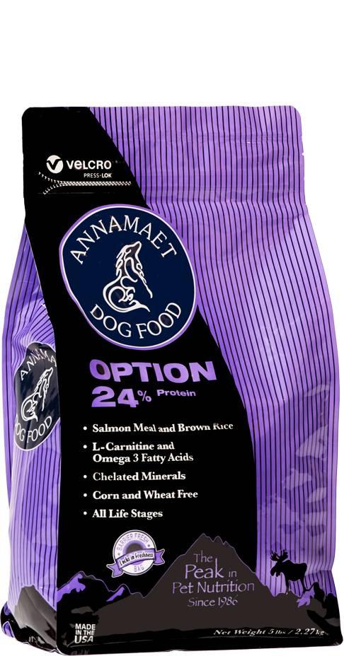 Annamaet Annamaet Option 24% Salmon Venison Dry Dog Food