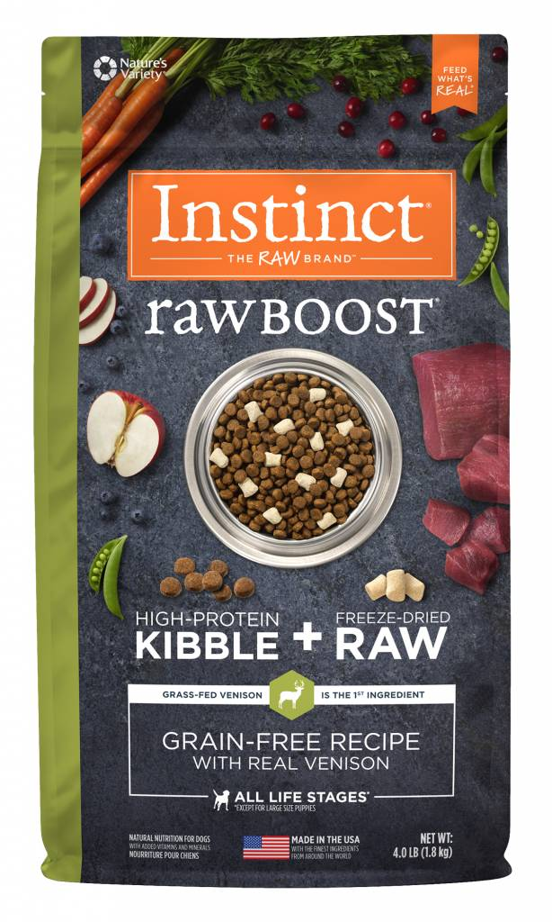 Natures Variety Nature's Variety Instinct Raw Boost Venison Dry Dog Food