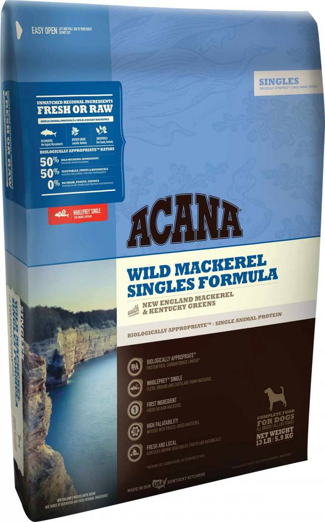 Acana Acana Singles Wild Mackerel & Greens Dry Dog Food