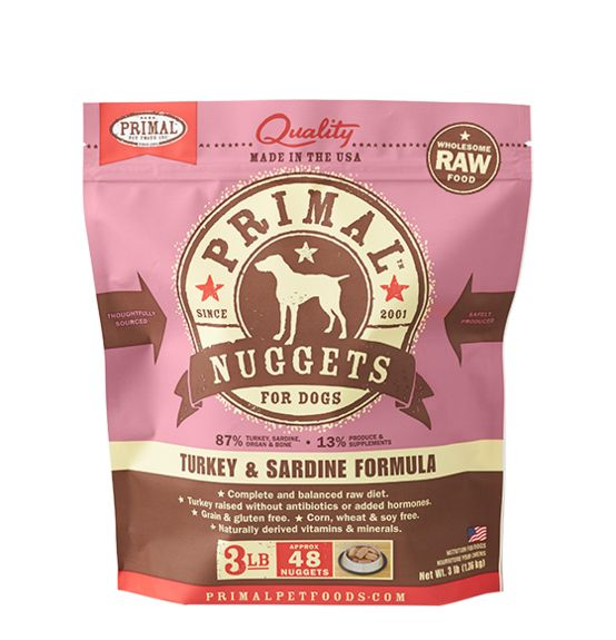 Primal Raw Frozen Formulas Dog Food