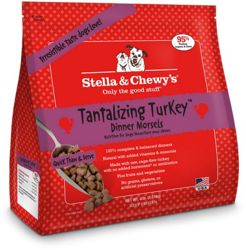 Stella & Chewys Stella & Chewy Frozen Raw Dog Food Turkey Morsels 4 lb.